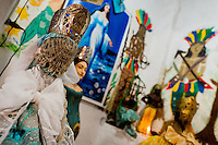 Afro-Brazilian religious statues, representing gods (orixas), are seen in the temple (terreiro) in Salvador, Bahia, Brazil, 9 February 2012.