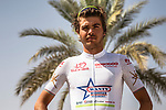 White Jersey Odd Christian Eiking (DEN) Wanty&ndash;Groupe Gobert at sign on before the start of Stage 4 of the 2018 Tour of Oman running 117.5km from Yiti (Al Sifah) to Ministry of Tourism. 16th February 2018.<br /> Picture: ASO/Muscat Municipality/Kare Dehlie Thorstad | Cyclefile<br /> <br /> <br /> All photos usage must carry mandatory copyright credit (&copy; Cyclefile | ASO/Muscat Municipality/Kare Dehlie Thorstad)