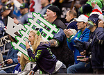 Seattle Seahwks fans cheer against the San Francisco 49ers at  .CenturyLink Field in Seattle, Washington on December 24, 2011.  The 49ers came from behind to beat the Seahawks 19-17. ©2011 Jim Bryant Photo. All Rights Reserved.