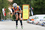 Eugenio Bianchi <br /> FIS Rollerski World Cup 2013 at Dobbiaco, Toblach, Italy.<br /> <br /> Poursuit race and overall podium<br /> <br /> photo: &copy; PierreTeyssot.com