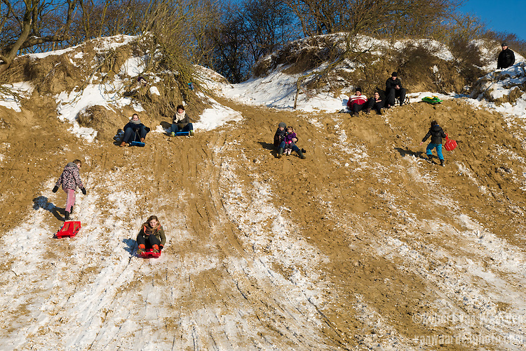 Sledding in the Netherlands!
