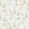 Gridded 4 cm, a hand-cut stone mosaic, shown in polished Cloud Nine.