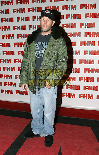 FRED DURST.FHM 100 Sexiest Women Party, Guildhall, .London,.3rd June 2004..full length full-length cap green parka jacket fur collar.www.capitalpictures.com.sales@capitalpictures.com.©Capital Pictures