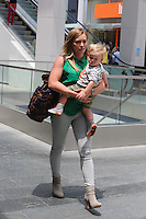 MAY 22 2013.Hilary Duff and son Luca in Century City mall.Non Exclusive.Mandatory Credit: KDNPIX.COM..Ref: KDN_LULAX /©NortePhoto