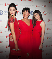 NEW YORK, NY - FEBRUARY 6: Kendall Jenner, Kylie Jenner and  Kris Jenner in Badgley Mischka attend The Heart Truth Red Dress Collection 2013 Fashion Show on February 6, 2013 in New York City. © Diego Corredor/MediaPunch Inc. ... /NortePhoto