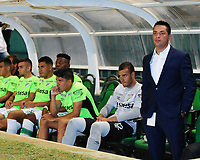 PALMASECA-COLOMBIA, 19-07-2017.  Héctor Cárdenas director técnico  del Deportivo Cali  durante el encuentro contra el Once Caldas , encuentro  por la fecha 3 de la Liga Aguila II 2017 disputado en el estadio del Deportivo Cali en Palmaseca./ Hector Cardenas coach  of Deportivo Cali  during match agaisnt  of Once Caldas  during match for the date 3 of the Aguila League II 2017 played at Deportivo Cali  stadium in Palmaseca. Photo:VizzorImage / Nelson Rios  / Cont