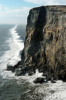 Restless Surf, Basaltic Sea Cliffs, Dyrholaey, Iceland