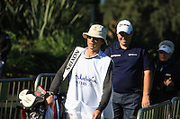 Neil Manchip Caddying for Shane Lowry (IRL) during the 2nd day at the  Andalucía Masters at Club de Golf Valderrama, Sotogrande, Spain. .Picture Fran Caffrey www.golffile.ie