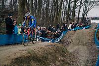 STYBAR Zdeněk (CZE/Deceuninck-Quick Step) coming down the dirt jump section<br /> <br /> GP Sven Nys (BEL) 2019<br /> DVV Trofee<br /> &copy;kramon