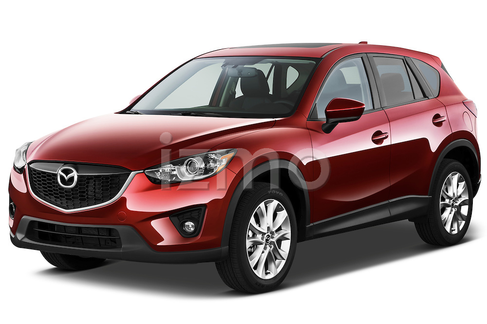 Front three quarter view of a 2013 Mazda CX-5 GT.