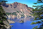 The Phantom Ship in Crater Lake, Crater Lake National Park.
