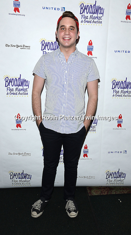 Ben Platt attends the 28th Annual  Broadway Cares/ Equity Fights Aids Flea Market and Auction on September 21,2014 in Shubert Alley in New York City. <br /> <br /> photo by Robin Platzer/Twin Images<br />  <br /> phone number 212-935-0770
