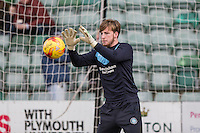 Alex Lynch of Wycombe Wanderers warms up ahead of the Sky Bet League 2 match between Plymouth Argyle and Wycombe Wanderers at Home Park, Plymouth, England on 30 January 2016. Photo by Mark  Hawkins / PRiME Media Images.