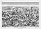 GNDL 6/16:  Engraving of campus, c1880s..Image from the University of Notre Dame Archives.