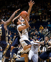 Brandon Smith of California shoots the ball during the game against George Washington at Haas Pavilion in Berkeley, California on November 13th, 2011.  California defeated George Washington, 81-54.