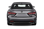 Straight rear view of a 2018 Lexus LS 500 F-SPORT 4 Door Sedan stock images