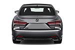 Straight rear view of a 2018 Lexus LS 500 F-SPORT 4 Door Sedan stock images