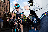 Picture by Alex Whitehead/SWpix.com - 14/05/2017 - Cycling - 2017 HSBC UK   Spring Cup Road Series - Lincoln Grand Prix - Madison Genesis' x climbs Michaelgate cobbles.