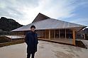 March 19, 2016, Kagawa, Japan - Japanese architect Hiroshi Sanbuichi displays the Naoshima Hall at Naoshima island in Kagawa prefecture, Japan's southern island of Shikoku on Friday, March 19, 2016 as a part of Setouchi Triennale 2016. Setouchi Triennale art festival started at islands of Setonaikai mediterranean sea from March 20 through November 6.  (Photo by Yoshio Tsunoda/AFLO) LWX -ytd-