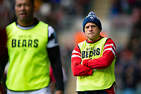Ian Madigan of Bristol Bears looks on from the sidelines. Gallagher Premiership match, between Leicester Tigers and Bristol Bears on April 27, 2019 at Welford Road in Leicester, England. Photo by: Patrick Khachfe / JMP