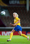 Caroline Seger, QF, Sweden-Norway, Women's EURO 2009 in Finland, 09042009, Helsinki Football Stadium.