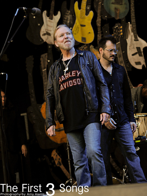 "Gregg Allman performs at LC Pavillion in Columbus, Ohio as part of his ""Love Country Blues Tour"" on Friday April 22, 2011."