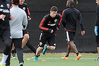 Washington D.C. - January 24, 2017: D.C. United first training session looking ahead for their preseason camp in Florida at the auxiliary field at RFK Stadium.