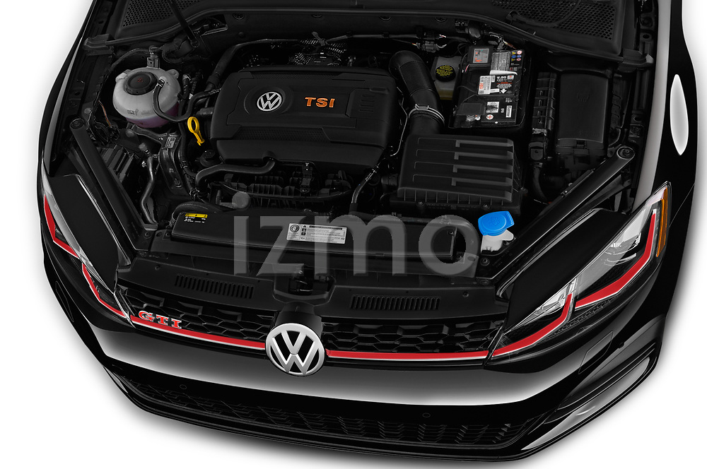 Car Stock 2018 Volkswagen Golf-GTI-Performance - 5 Door Hatchback Engine  high angle detail view