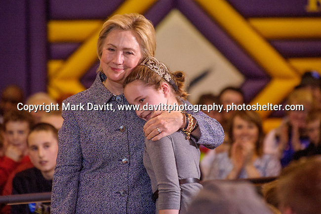 Democratic presidential candidate Hillary Clinton  sympathized with Hannah Tandy, a fifth grade girl,  about bullying at a town hall meeting in Keota, Iowa Tuesday. She also took the opportunity and subtly comment on words spoken by Donald Trump to the delight of the gathered crowd.