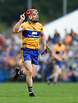 John Conlon of Clare celebrates a point against Waterford during their Munster  championship round robin game at Cusack Park Photograph by John Kelly.