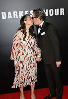 Gary Oldman &amp; Gisele Schmidt at the premiere for &quot;Darkest Hour&quot; at the Samuel Goldwyn Theatre at The Motion Picture Academy. Beverly Hills, USA 08 November  2017<br /> Picture: Paul Smith/Featureflash/SilverHub 0208 004 5359 sales@silverhubmedia.com