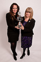 Louise Wright and Christine Luckock of Carringtons, who won the John Pearce Annual Challange Trophy