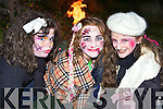 Aisling O'Brien, Aileen Twomey and Emer Lynch Ballymac looking for spooks at the Knocknagoshel Halloween festival on Sunday night