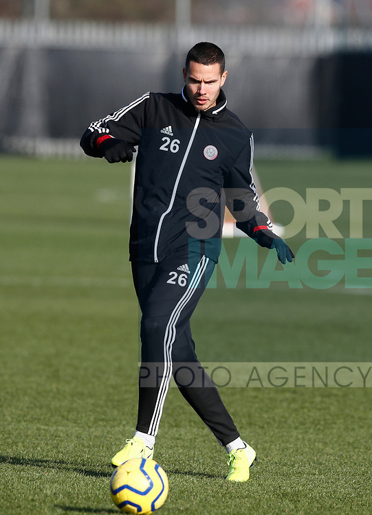 Jack Rodwell of Sheffield Utd during the Press Conference & Training at the Steelphalt Academy, Sheffield. Picture date: 7th February 2020. Picture credit should read: Simon Bellis/Sportimage