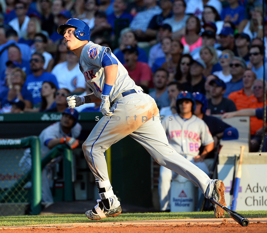 New York Mets Wilmer Flores (4) during a game against the Chicago Cubs on July 18, 2016 at Wrigley Field in Chicago, IL. The Cubs beat the Mets 5-1.