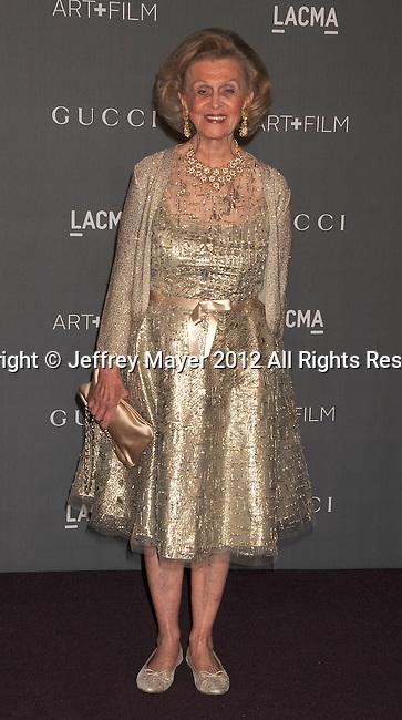 LOS ANGELES, CA - OCTOBER 27: Barbara Davis arrives at LACMA Art + Film Gala at LACMA on October 27, 2012 in Los Angeles, California.