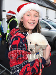 Beth Noer and Bunny who took part in the Termonfeckin Celtic FC Santa run. Photo:Colin Bell/pressphotos.ie