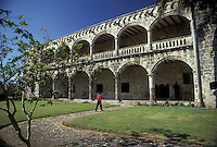 AJ2315, Dominican Republic, Santo Domingo, Caribbean, Caribbean Islands, Columbus Alcazar circa 1510 home of Columbus' son Diego in Santo Domingo the capital city of the Dominican Republic.