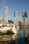 Vancouver, Canada, False Creek, Expo site, British Columbia, yacht harbor, highrise condominiums,