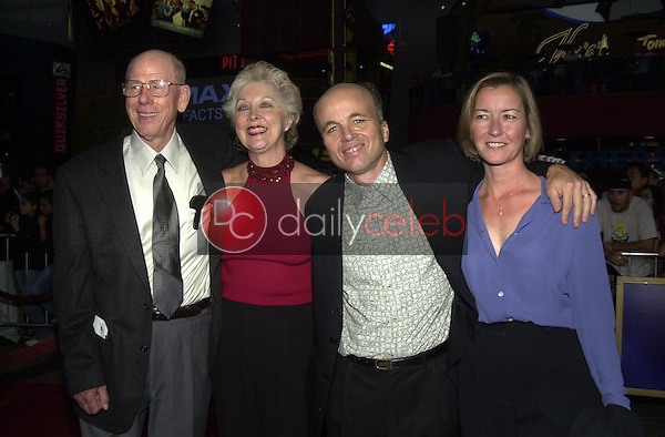 Rance Howard and wife Judy O'Sullivan with Clint Howard and his wife Melanie