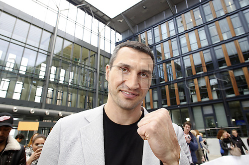 28.04.2016. Cologne, Germany. Wladimir Klitschko at the press conference to launch the upcoming havuweight World Championship fight of Fury versus Klitschko II at the studio of Mediengruppe RTL