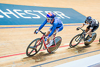 Picture by Allan McKenzie/SWpix.com - 06/01/2018 - Track Cycling - Revolution Champion Series 2017 - Round 3 - HSBC UK National Cycling Centre, Manchester, England - Ethan Hayter, Team Inspired, HSBC UK, Kalas, branding.