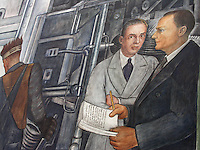 "USA Detroit Institut of Arts - Affresco  di Diego Rivera ""Detroit Industry"" (commissionato da Edsel Ford e dal direttore del Museo William Valentiner al muralista messicano  1932-33"