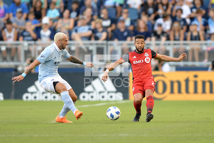 Kansas City, Kansas - July 7, 2018: Sporting Kansas City played to a 2-2 tie with Toronto FC  at Children's Mercy Park.