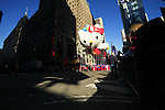 USA, NEW YORK, November 24, 2011.A Super Cute Hello Kitty balloon floats on Times Square while American celebrated the Macy's Thanksgiving day parade in New York, November 24,2011. VIEWpress / Eduardo Munoz Alvarez..The Macy's parade is considered by many to be the official start of the holiday season. Balloons, bands and dignitaries trooped through midtown Manhattan Thursday morning for the 85th annual Macy's Thanksgiving Day Parade. Media Reported.