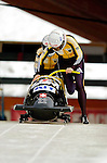 18 November 2005: Maya Bamert pilots Switzerland 2 to a 15th place finish at the 2005 FIBT AIT World Cup Women's Bobsleigh Tour at the Verizon Sports Complex, in Lake Placid, NY. Mandatory Photo Credit: Ed Wolfstein.