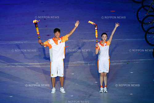 (L) Liu Xiang (CHN), ..AUGUST 12, 2011 - Opening Ceremony : ..The 26th Summer Universiade 2011 Shenzhen ..Opening Ceremony ..at Main Stadium of Universiade Center, Shenzhen, China. ..(Photo by YUTAKA/AFLO SPORT) [1040]
