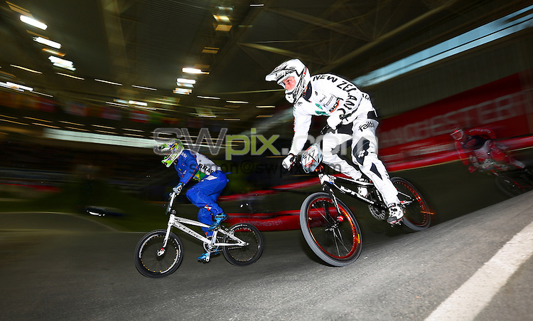 Picture by Alex Whitehead/SWpix.com - Cycling - 2014 UCI BMX Supercross World Cup - National BMX Centre, Manchester, England - 19/04/14 - Marc Willers