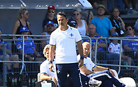 Trainer Dirk Schuster (SV Darmstadt 98) - 05.08.2018: SV Darmstadt 98 vs. SC Paderborn 07, Stadion am Boellenfalltor, 1. Spieltag 2. Bundesliga<br /> <br /> DISCLAIMER: <br /> DFL regulations prohibit any use of photographs as image sequences and/or quasi-video.