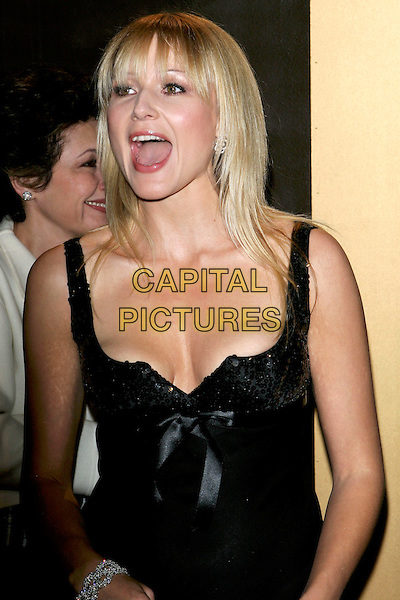 JEWEL.Cartier Celebrates 25 Years In Beverly Hills In Honor Of Project A.L.S. held on Rodeo Drive..May 9th, 2005.Photo Credit: Jacqui Wong/AdMedia.half length black dress screaming mouth open cleavage sequins ribbon.www.capitalpictures.com.sales@capitalpictures.com.© Capital Pictures.